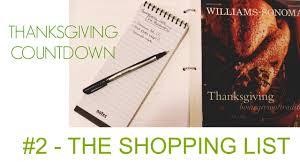 thanksgiving 2014 food countdown 2 the shopping list i
