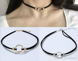metal ring necklace images 2018 collar neckband neck chain sexy metal ring clavicle chain jpg