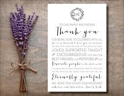 wedding thank you 4x6 to our family and friends thank you wedding sign wedding