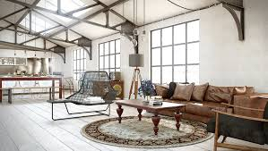 how to create an industrial living room decor