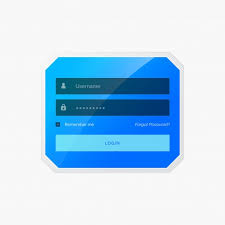 Template For Login Form by Blue Login Form Template Vector Free