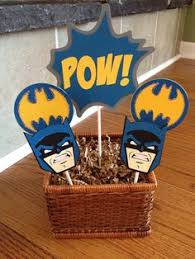 batman birthday cake topper with 3 cupcake toppers personalized