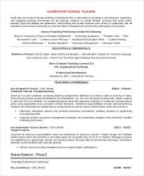 Job Description For Substitute Teacher For Resume by Professional Teacher Resume Templates 23 Free Word Pdf