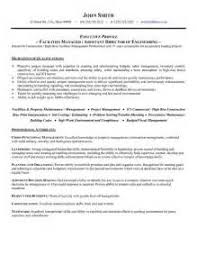 resume cover letter facilities manager resume pdf download