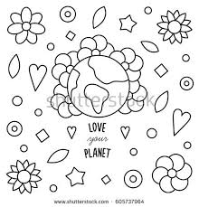 love planet coloring stock vector 605737964 shutterstock