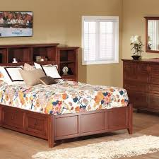 whittier wood mckenzie glazed cherry bookcase queen storage