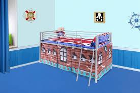 Ikea Bunk Bed Tent Bedroom Diy Firetruck Bed Fire Truck Loft Bed Curtain Fire