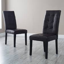 Parson Dining Chair Martha Bonded Leather Parsons Dining Chair Set Of 2 Hayneedle