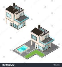 vector illustration ultra modern isometric home stock vector
