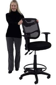 mesh back ergonomic drafting stool for standing desks u0026 conference