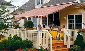 Retractable Porch Awnings Retractable Deck U0026 Patio Awnings Garage Door Service Sales And