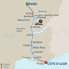 Provence France Map by Burgundy U0026 Provence River Cruise Avalon Waterways France