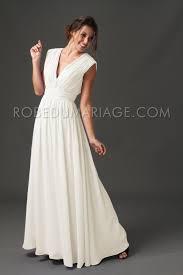 robe de mariage simple simple robe de mariée plage col en v plisée chiffon robe206498