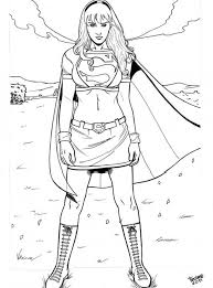 Supergirl Printable Coloring Pages 308655 Batgirl And Supergirl Coloring Pages Printable