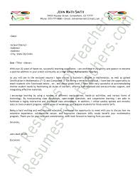 cover letter for math teaching position cover letter cover letter