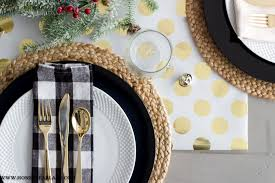 gold table runner and placemats easy wrapping paper table runner honeybear lane