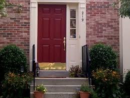 door 51 772861 brick house street front door stock photo best