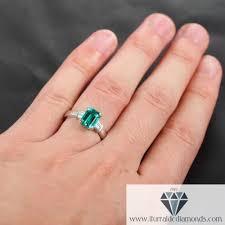 baguette ring emerald cut emerald baguette diamond accent engagement ring
