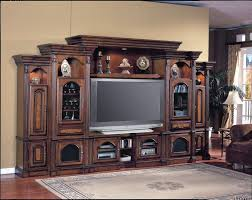 interior cream home theater space feature classic brown wood