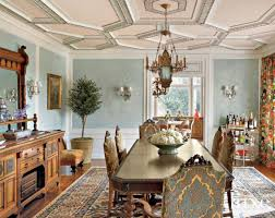 Aqua Dining Room Aqua And Gold Mediterranean Dining Room Luxe Interiors Design