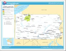 Pennsylvania Maps by Map Of Pennsylvania Map Federal Lands And Indian Reservations
