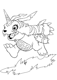 coloring digimon coloring pages 106