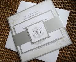 cruise wedding band vintage rustic nautical wedding invitation silver metallic