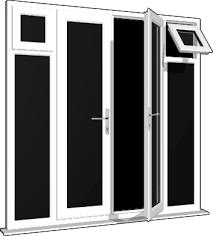 Patio Doors With Side Windows White French Doors U0026 Side Sash Panels Windows And Doors