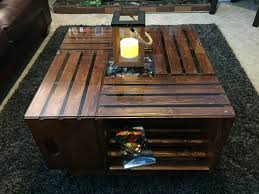 reddit inspired coffee table made out of wooden bins album on imgur
