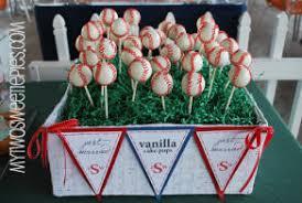 baseball wedding cake pops baseball themed wedding reception