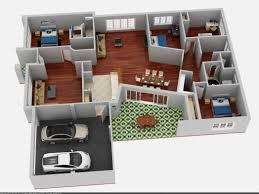 3 bedroom bungalow house designs modern bungalow floor plan 3d