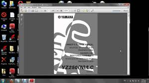 yz 250 2000 owner u0027s servise manual youtube