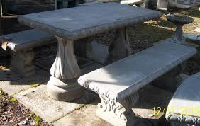 concrete table and benches price concrete table and bench set materialwant co