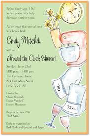 around the clock bridal shower clock shower invitations myexpression 10129