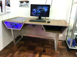 Desk With Computer Built In Computer Built Into Desk In Beautiful Custom With Pc Gaming