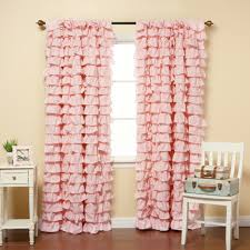 Ruffled Curtains Nursery by Ruffled Pink Curtains Business For Curtains Decoration