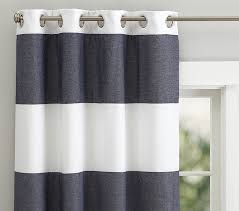 Navy Blue And White Striped Curtains Appealing Rugby Stripe Curtains And Rug Stripe Shower Curtain