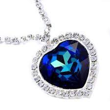 titanic blue necklace images Blue heart necklace jewelry images jpg