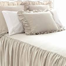 Skirted Coverlet Wilton Natural Bedspread Pine Cone Hill