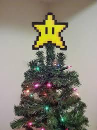christmas tree topper original mario bros perler bead christmas tree topper
