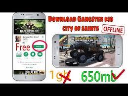 free gangstar city of saints apk offline gangster city of saints apk data highly compressed