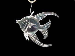 custom blown glass fish wedding favor two