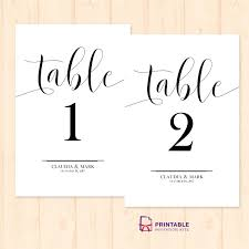 wedding table numbers template table numbers template design table number template table card