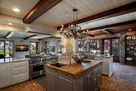 fascinating large open kitchen features square shape wooden