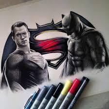 batman superman drawing lethalchris deviantart