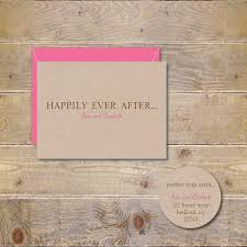 happily after wedding thank you cards fairytale wedding