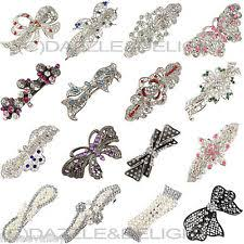 hair slides diamante hair ebay