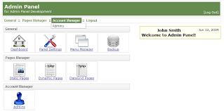 php site control panel website back end script shareware version