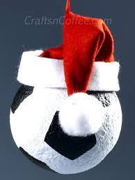 Styrofoam Christmas Decorations - tinsel tuesdays score big with these diy sports ball ornaments