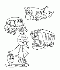 funny transportation coloring page for kids coloring pages